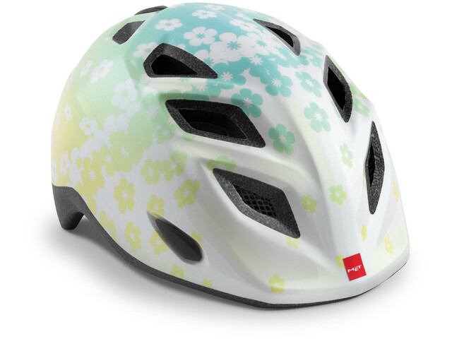 MET Elfo Casque Enfant, iridescent white flowers